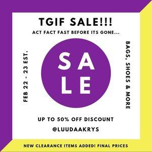 TGIF SALE 🥳 ACT FAST!!!